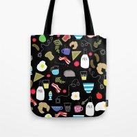 Breakfast Pattern Tote Bag