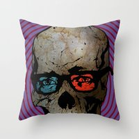 Life Seems Much More Exciting For Skullboy Since He Got A New Pair Of Glasses Throw Pillow