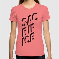 Sacrifice Womens Fitted Tee Pomegranate SMALL