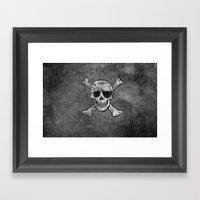 Black Pirate  Framed Art Print