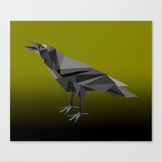 Raven Geometric Grey Tri… Canvas Print