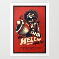 HELLO! HELLO! (red) Art Print