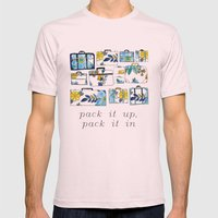 Pack It Up Pack It In Mens Fitted Tee Light Pink SMALL
