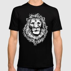 Lion (on dark) Black Mens Fitted Tee SMALL