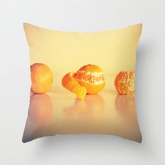 Fruit Orange Clementines Throw Pillow