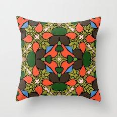 Retro Orange Throw Pillow