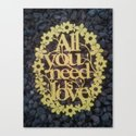 "Paper cut- ""All you need is love"" wall decor Canvas Print"
