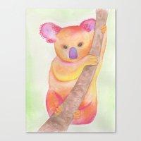Colorful Koala Canvas Print