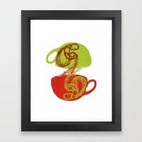 Coffee and tea time Framed Art Print