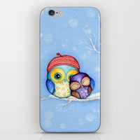 Owl In A Little Red Bere… iPhone & iPod Skin