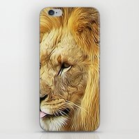 Thirsty Lion iPhone & iPod Skin
