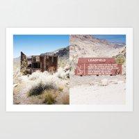 Leadfield, Death Valley.… Art Print