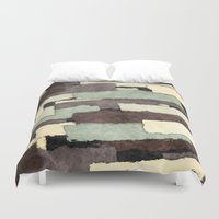 Textured Layers Abstract Duvet Cover
