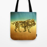 Animal Mosaic - The Lion Tote Bag