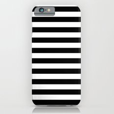 Modern Black White Stripes Monochrome Pattern iPhone 6s Slim Case