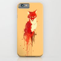 fox iPhone & iPod Cases featuring The fox, the forest spirit by Picomodi