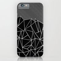 iPhone & iPod Case featuring Ab Lines 45 Black by Project M