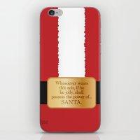 The power of Santa iPhone & iPod Skin