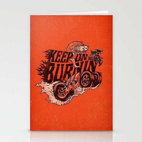 'KEEP ON BURNIN' Stationery Card