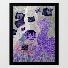 Nessie Hearts Sasquatch Art Print