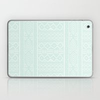 Mudcloth in mint Laptop & iPad Skin