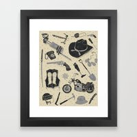 Artifacts: Walking Dead Framed Art Print