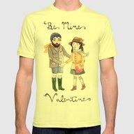 Be Mine Mens Fitted Tee Lemon SMALL