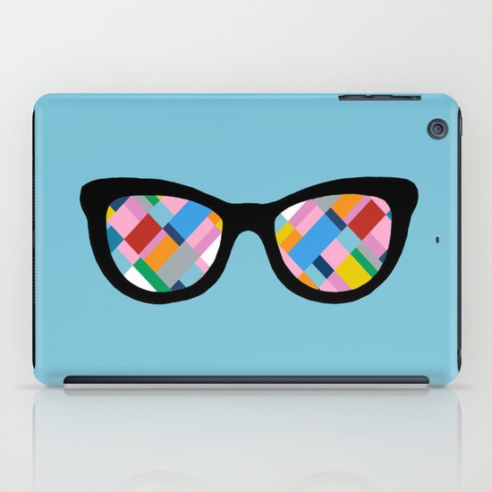 Map 45 Glasses on Sky Blue iPad Case