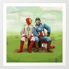 Friends? Art Print
