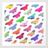 Colourful Butterflies Art Print