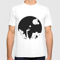 Bubble  Mens Fitted Tee White SMALL