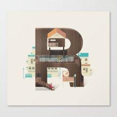 Resort Type - Letter R Canvas Print