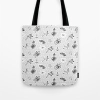 praying hands tattoo Tote Bag