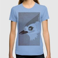 Tufted Titmouse Womens Fitted Tee Athletic Blue SMALL