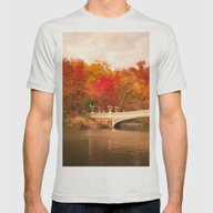 New York City Autumn Mag… Mens Fitted Tee Silver SMALL
