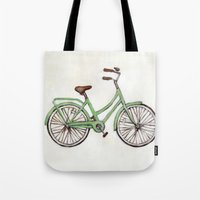 Bicycle / Green Cruiser Tote Bag