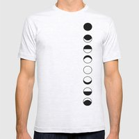 Phases Of The Moon Mens Fitted Tee Ash Grey SMALL