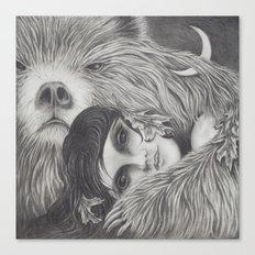 The Night is a Black Bear Canvas Print