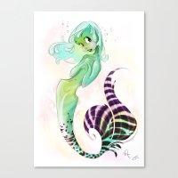 Green Soleil Canvas Print