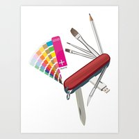 Artist Pocket Knife Art Print