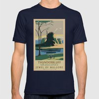 Thunder Bluff Classic Rail Poster Mens Fitted Tee Navy SMALL