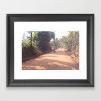Kicking Up Dust Framed Art Print