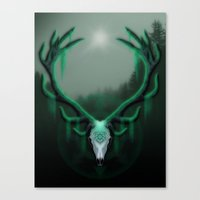 Wild Horns Canvas Print