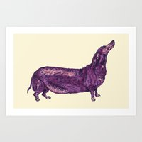Dachshund / Wiener Dog (Dog Friends, II). Art Print