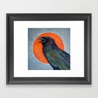 Raven Sun Framed Art Print