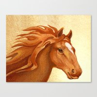 Redhead - Chestnut Horse Canvas Print