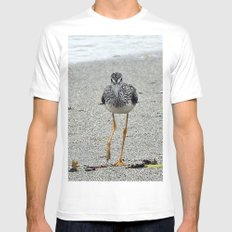 Greater Yellowlegs (Sandpiper) Looking at Camera  White Mens Fitted Tee SMALL