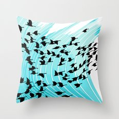 bird wrap Throw Pillow