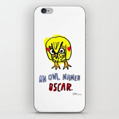 AN OWL NAMED OSCAR iPhone & iPod Skin