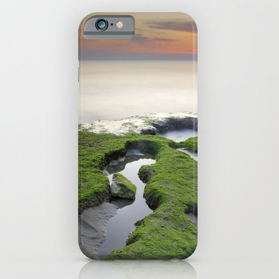 Green, white a red coast iPhone & iPod Case